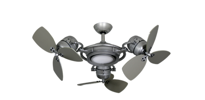Picture of TriStar II 3x 18 in. Brushed Nickel BN-1 Triple Ceiling Fan with LED Light and Remote