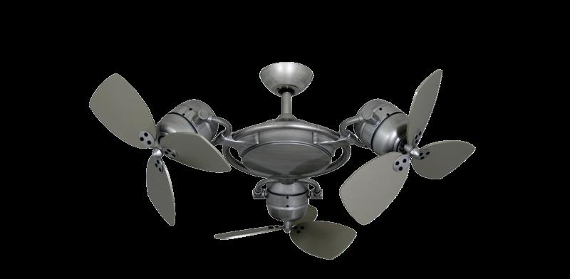TriStar II 3x 18 in. Brushed Nickel BN-1 Triple Ceiling Fan with Remote