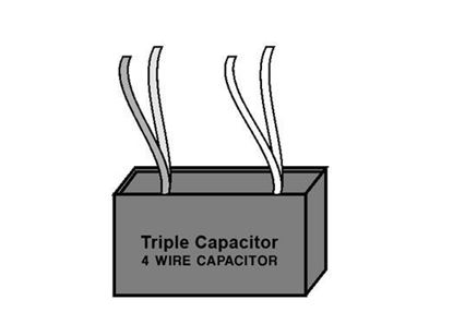 Picture of Triple Capacitor - Four Wire