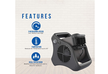 Picture of Lasko 7050 Misto® Outdoor Misting Fan, 3-Speed, 110V, Black