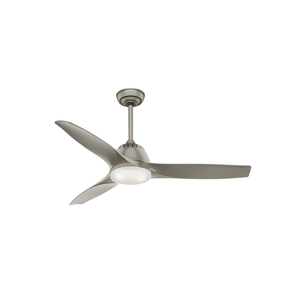 Casablanca 52 Wisp Pewter Ceiling Fan With Light With Handheld Remote Model 59152 Dan S Fan City C Ceiling Fans Fan Parts Accessories