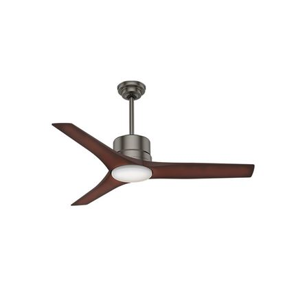 "Picture of Casablanca  52"" Piston Brushed Slate Ceiling Fan with Light with Handheld Remote, Model 50450"