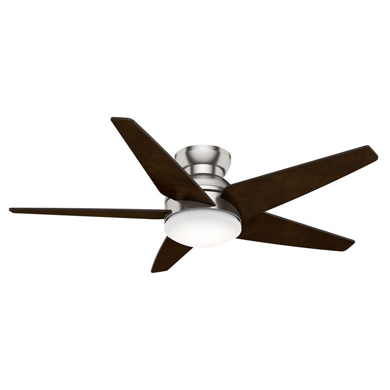 "Picture of Casablanca  52"" Isotope Brushed Nickel Ceiling Fan with Light with Wall Control, Model 59355"
