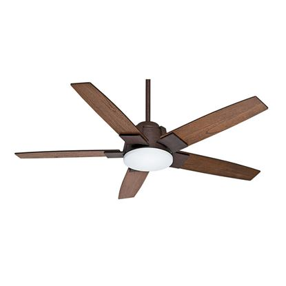 "Casablanca  56"" Zudio Industrial Rust Ceiling Fan with Light with Wall Control, Model 59111"