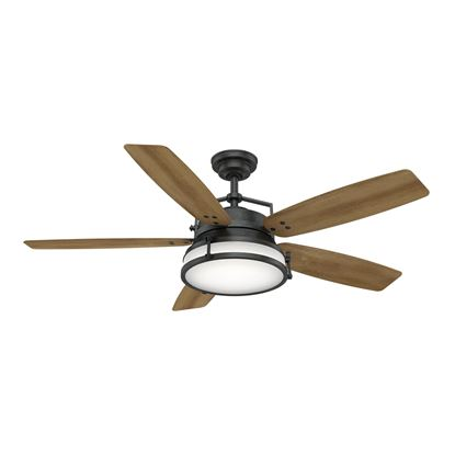 "Picture of Casablanca  56"" Caneel Bay Aged Steel Ceiling Fan with Light with Wall Control, Model 59359"