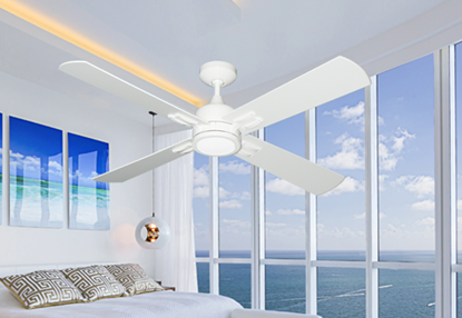 "Captiva 52"" Indoor Contemporary Ceiling Fan with Remote and 15W LED Light"