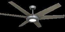 Elegant II 60 in. WiFi Enabled Indoor/Outdoor Brushed Nickel Ceiling Fan and Light