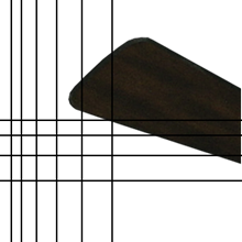 """Picture of Walnut/Distressed Cherry blade set of 4 for 24"""" Metropolitan Oil Rubbed Bronze"""