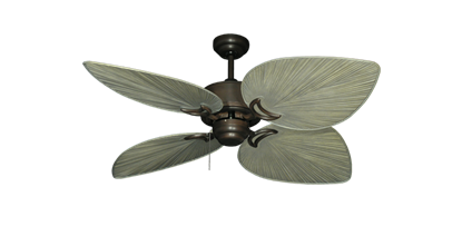 "Bombay Oil Rubbed Bronze with 50"" Bombay Driftwood Blades"