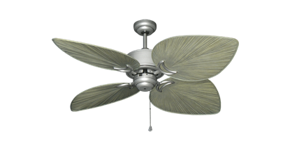 """Bombay Brushed Nickel (BN-1) with 50"""" Bombay Driftwood Blades"""