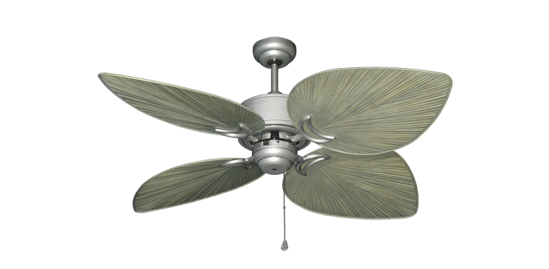 """Picture of Bombay Brushed Nickel (BN-1) with 50"""" Bombay Driftwood Blades"""