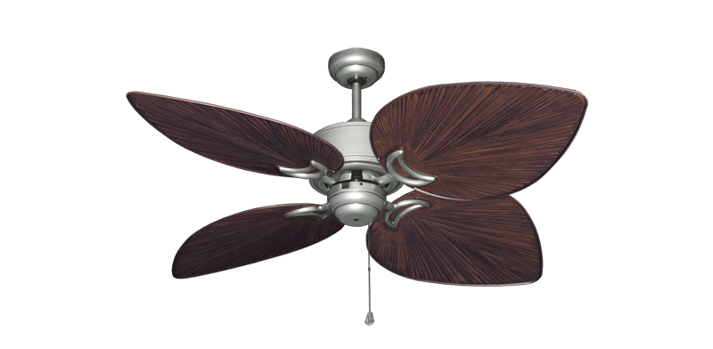 """Bombay Brushed Nickel (BN-1) with 50"""" Bombay Oil Rubbed Bronze Blades"""