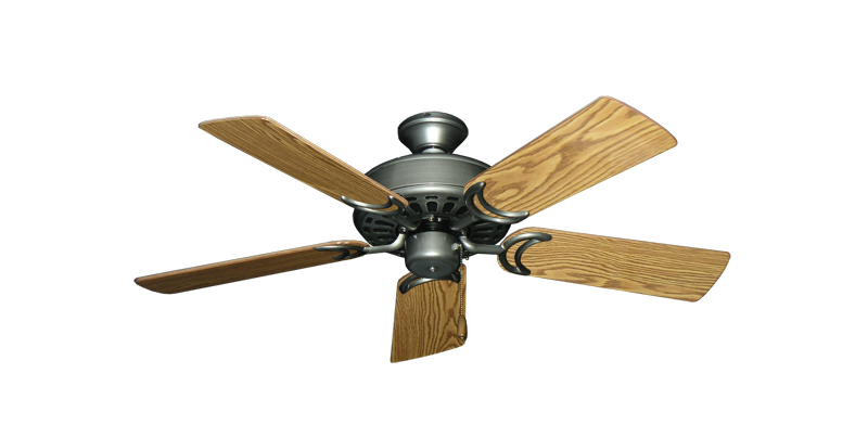 """Dixie Belle Brushed Nickel with 44"""" Oak Gloss Blades"""