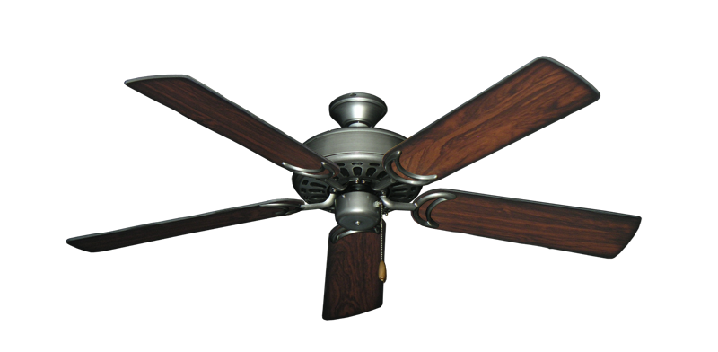 """Picture of Dixie Belle Brushed Nickel with 52"""" Burnt Cherry Blades"""