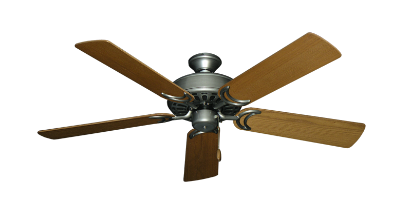"""Dixie Belle Brushed Nickel with 52"""" Light Oak Blades"""