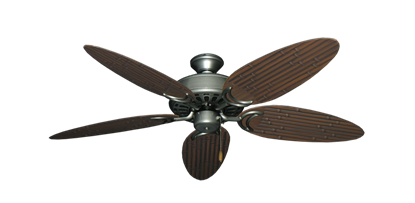 """Dixie Belle Brushed Nickel with 52"""" Outdoor Bamboo Brushed Nickel Blades"""