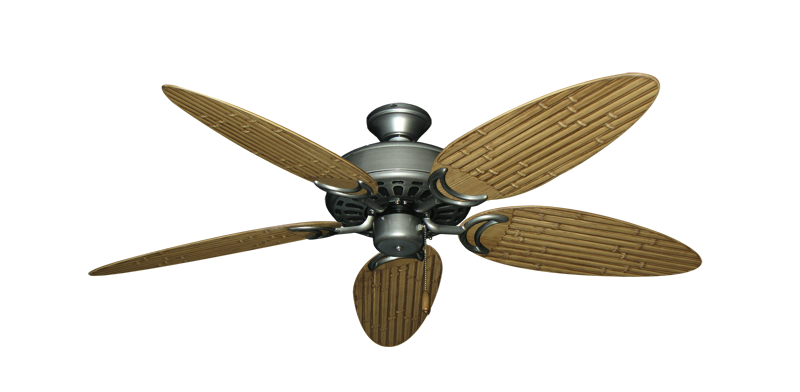 "Picture of Dixie Belle Brushed Nickel with 52"" Outdoor Bamboo Walnut Blades"