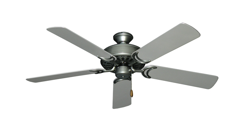 "Picture of Dixie Belle Brushed Nickel with 52"" Outdoor Brushed Nickel Blades"