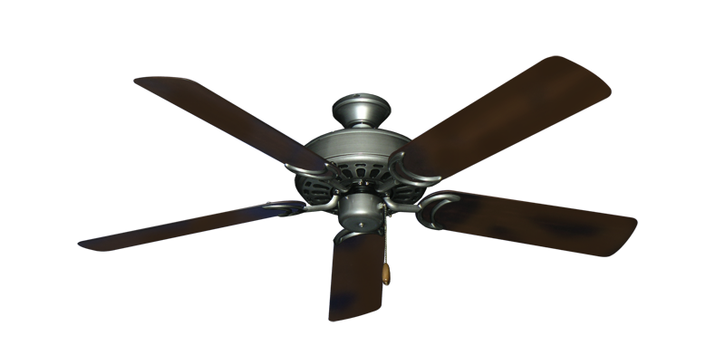 "Picture of Dixie Belle Brushed Nickel with 52"" Outdoor Oil Rubbed Bronze Blades"