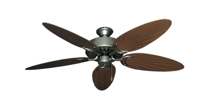 """Dixie Belle Brushed Nickel with 52"""" Outdoor Palm Brushed Nickel Blades"""