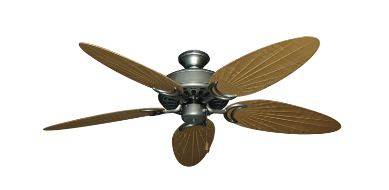 "Picture of Dixie Belle Brushed Nickel with 52"" Outdoor Palm Walnut Blades"