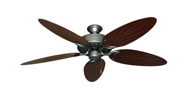 """Dixie Belle Brushed Nickel with 52"""" Outdoor Palm Wine Blades"""