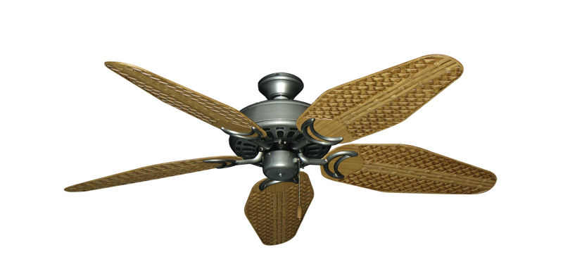 "Picture of Dixie Belle Brushed Nickel with 52"" Outdoor Weave Walnut Blades"
