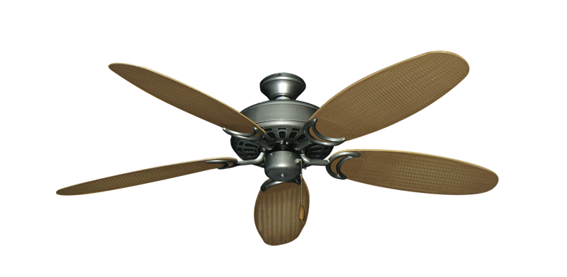 "Picture of Dixie Belle Brushed Nickel with 52"" Outdoor Wicker Tan Blades"