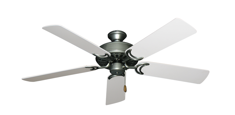 "Picture of Dixie Belle Brushed Nickel with 52"" Pure White Blades"