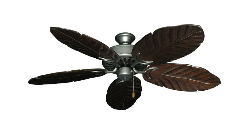 "Dixie Belle Brushed Nickel with 52"" Series 125 Arbor Dark Walnut Blades"