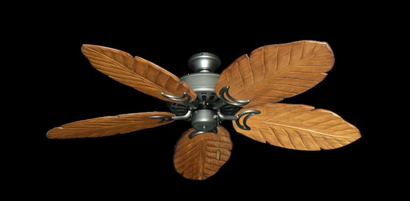"Dixie Belle Brushed Nickel with 52"" Series 125 Arbor Oak Blades"