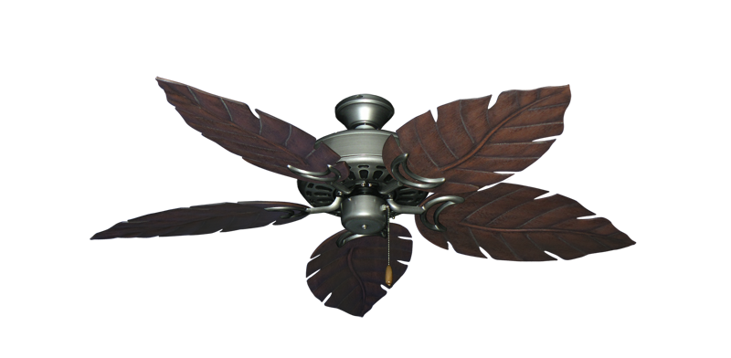 "Picture of Dixie Belle Brushed Nickel with 52"" Venetian Oil Rubbed Bronze Blades"