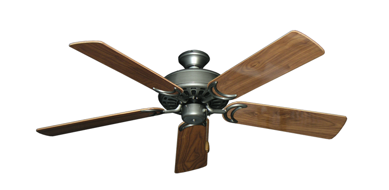 "Picture of Dixie Belle Brushed Nickel with 52"" Walnut Gloss Blades"