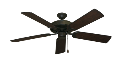 """Picture of Raindance Oil Rubbed Bronze with 52"""" Distressed Walnut Blades"""