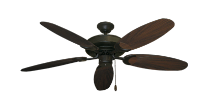"Picture of Raindance Oil Rubbed Bronze with 52"" Outdoor Leaf Oil Rubbed Bronze Blades"