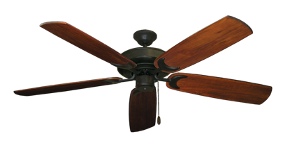 "Raindance Oil Rubbed Bronze with 60"" Series 450 Arbor Cherrywood Blades"