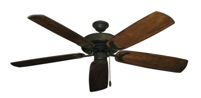 "Picture of Raindance Oil Rubbed Bronze with 60"" Series 450 Arbor Dark Walnut Blades"