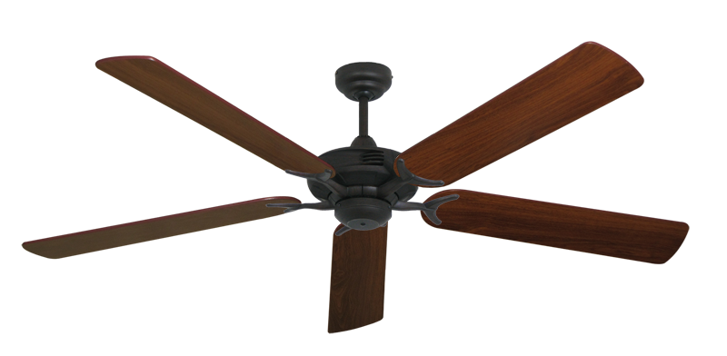 """Picture of Coastal Air Oil Rubbed Bronze with 60"""" Walnut Blades"""