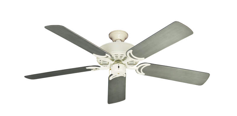 """Dixie Belle Antique White with 52"""" Outdoor Brushed Nickel BN-1 Blades"""
