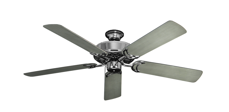 """Dixie Belle Chrome with 52"""" Outdoor Brushed Nickel BN-1 Blades"""