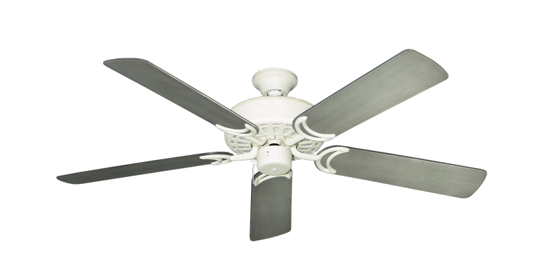 """Picture of Dixie Belle Navajo White with 52"""" Outdoor Brushed Nickel BN-1 Blades"""