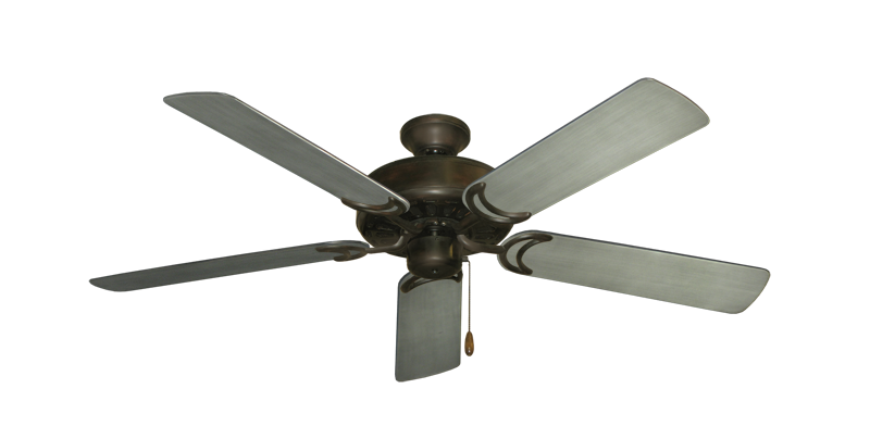 "Picture of Dixie Belle Oil Rubbed Bronze with 52"" Outdoor Brushed Nickel BN-1 Blades"