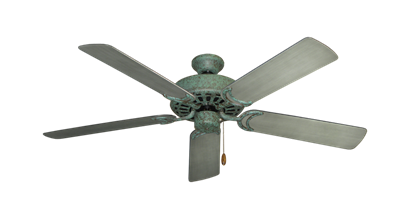 "Picture of Dixie Belle Verde Green with 52"" Outdoor Brushed Nickel BN-1 Blades"
