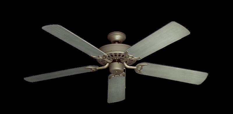"Bimini Breeze V Antique Bronze with 52"" Outdoor Brushed Nickel BN-1 Blades"