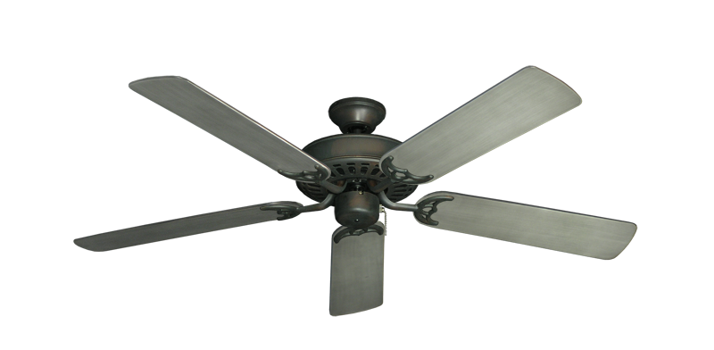 "Picture of Bimini Breeze V Oil Rubbed Bronze with 52"" Outdoor Brushed Nickel BN-1 Blades"