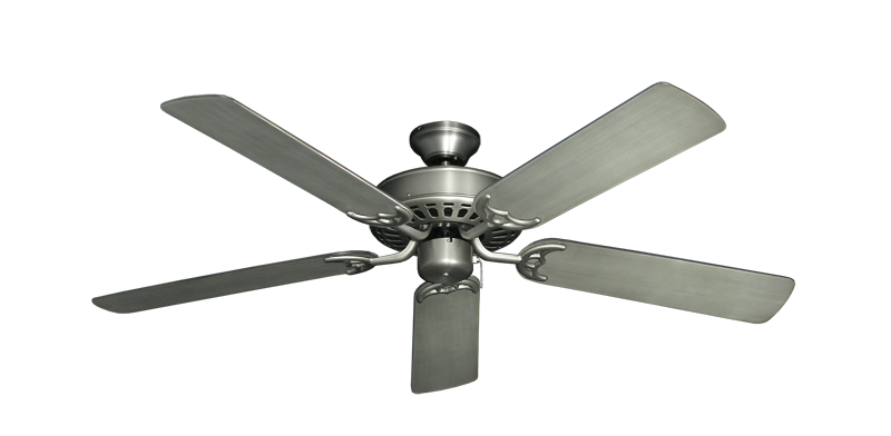 """Picture of Bimini Breeze V Satin Steel with 52"""" Outdoor Brushed Nickel BN-1 Blades"""
