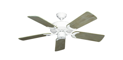 """Picture of Patio Fan Pure White with 44"""" Driftwood Blades"""