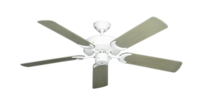 """Picture of Patio Fan Pure White with 52"""" Outdoor Driftwood Blades"""