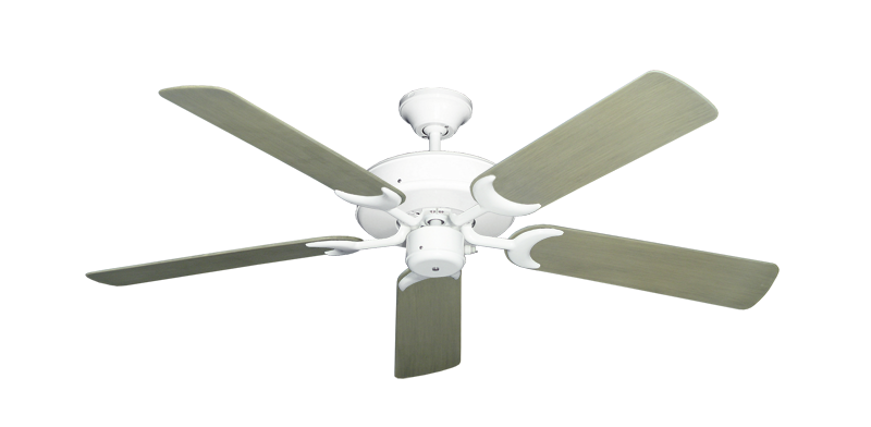 "Picture of Patio Fan Pure White with 52"" Outdoor Driftwood Blades"