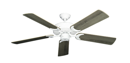 """Picture of Patio Fan Pure White with 52"""" Barnwood Blades"""